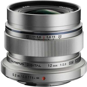 Obiectiv OLYMPUS M.ZUIKO DIGITAL ED 12mm 1:2.0 MLC EW-M1220, argintiu