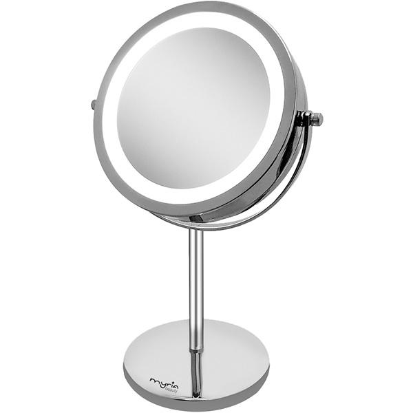 Oglinda cosmetica cu iluminare MYRIA MY4830, 17cm, argintiu