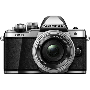 Aparat foto Mirrorless OLYMPUS E-M10 MARK II PANCAKE + Obiectiv 14-42MM, 16 MP, Argintiu