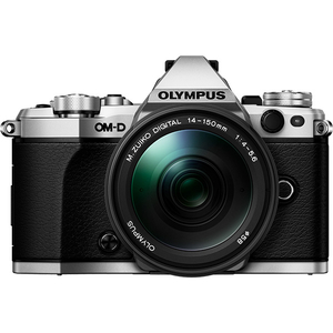 Aparat foto Mirrorless OLYMPUS E-M5 MARK II, 16 MP, Wi-Fi, argintiu + Obiectiv 14-150mm