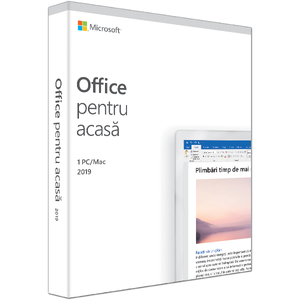 Microsoft Office Home and Student 2019, 1 PC/Mac, Romana