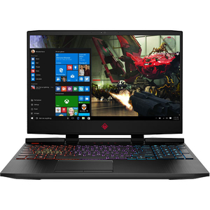 "Laptop Gaming Omen by HP 15-dc1005nq, Intel Core i7-8750H pana la 4.1GHz, 15.6"" Full HD, 8GB, HDD 1TB + SSD 128GB, NVIDIA GeForce RTX 2060 6GB, Windows 10 Home, negru"