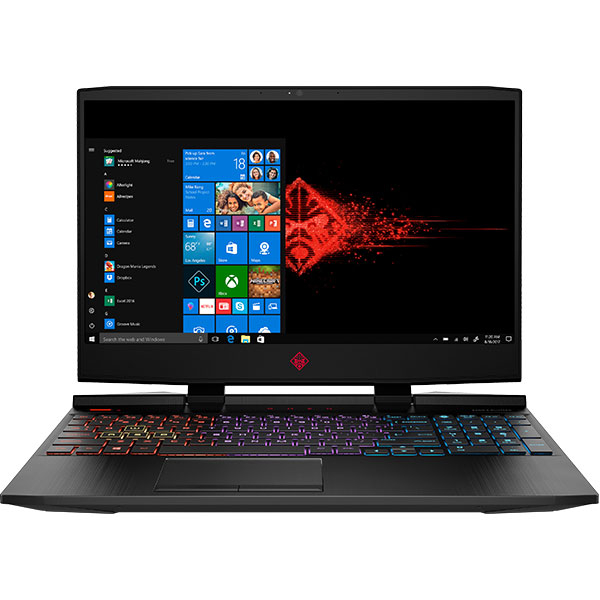"Laptop Gaming Omen by HP 15-dc1012nq, Intel Core i7-8750H pana la 4.1GHz, 15.6"" Full HD, 32GB, HDD 1TB + SSD 512GB, NVIDIA GeForce RTX 2070 8GB, Windows 10 Home, negru"