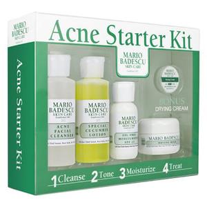 Set cadou MARIO BADESCU Acne Starter Kit: Demachiant, 59ml + Lotiune tonica, 59ml + Ulei hidratant, 29ml + Masca pentru fata, 14g