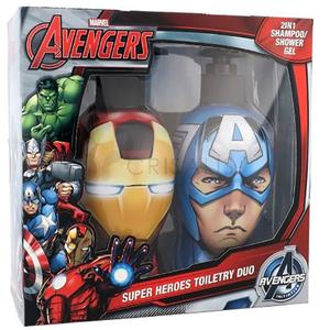 Set MARVEL 159282: 2 in 1 Sampon & Gel de dus Iron Man 300ml + 2 in 1 Sampon & Gel de dus Captain America 300ml