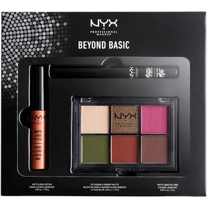Set NYX Beyond Basic: Fard de pleoape + Ruj + Tus de ochi