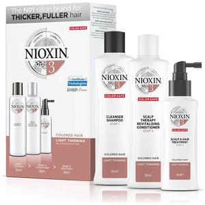 Set NIOXIN Sistem No.3: Sampon, 300ml + Balsam de par, 300ml + Tratament pentru par, 100ml