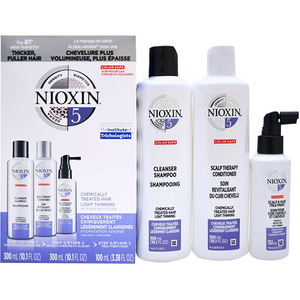 Set NIOXIM Sistem No.5: Sampon, 300ml + Balsam de par, 300ml + Tratament pentru par, 100ml