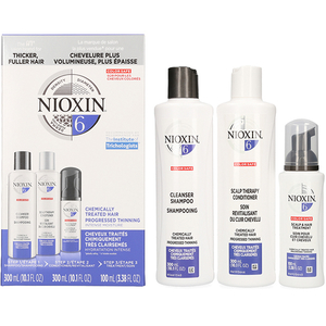 Set NIOXIN Sistem No.6: Sampon, 300ml + Balsam de par, 300ml + Tratament pentru par, 100ml