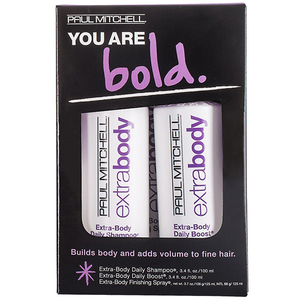 Set PAUL MITCHELL You are bold: Sampon, 100ml + Spray pentru volum, 100ml + Fixativ, 125ml
