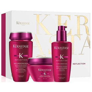 Set cadou KERASTASE Reflection: Sampon, 250ml + Masca de par, 200ml + Tratament Leave-in, 125ml