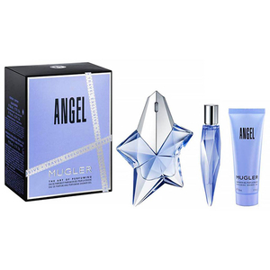 Set cadou THIERRY MUGLER Angel: Apa de parfum, 50ml + Mini apa de parfum, 10ml + Gel de dus, 50ml