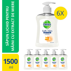 Sapun lichid DETTOL Honey, 6 x 250ml