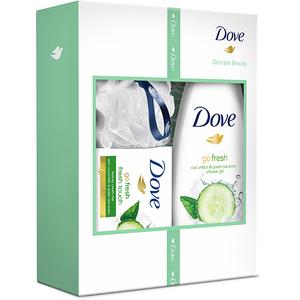 Set cadou Dove Delicate Beauty: Gel de dus Go fresh, 250ml + Sapun Go fresh touch, 100g