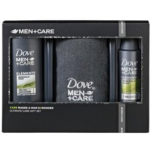 Set Dove Men+Care Minerals Sage: Gel de dus, 250ml + Deodorant spray, 150ml + Prosop