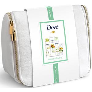 Set cadou Dove Deluxe Delicate Beauty: Lotiune de corp, 250ml + Crema de maini, 75ml + Spuma de dus, 200ml + Deodorant, 150ml