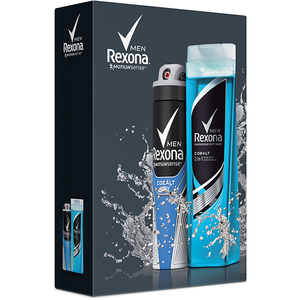 Set cadou REXONA Men Cobalt: Gel de dus Cobalt, 250ml + Deodorant spray Cobalt, 150ml