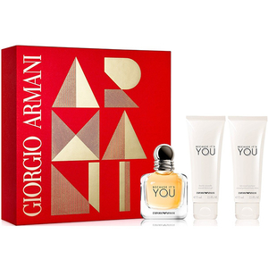 Set cadou GIORGIO ARMANI Because It's You: Apa de parfum, 50ml + Lotiune de corp, 75ml + Gel de dus, 75ml