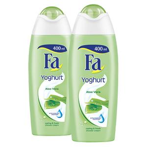 Pachet promo FA: Gel de dus Yoghurt Aloe Vera, 2 x 400ml