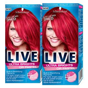 Pachet promo, Vopsea de par Schwarzkopf Live XXL Ultra Brights, 92 Red, 2 x 80ml