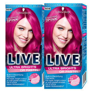 Pachet promo, Vopsea de par SCHWARZKOPF Live XXL Ultra Brights, 093 Pink, 2 x 80ml