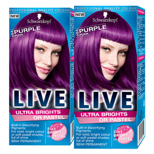 Pachet promo, Vopsea de par SCHWARZKOPF Live XXL Ultra Brights, 094 Purple, 2 x 80ml