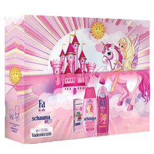 Pachet promo: Gel de dus Fa Kids Mermaid, 250ml + Sampon Schauma Girls, 250ml + Pasta de dinti VADEMECUM Junior Strawberry, 50ml