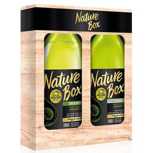 Set cadou NATURE BOX Avocado: Sampon, 385ml + Balsam, 385ml