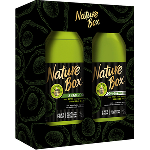 Set cadou NATURE BOX Avocado: Sampon, 385ml + Balsam de par, 385ml