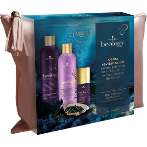 Set cadou SCHWARZKOPF Beology Renew: Sampon, 400ml + Balsam de par, 400ml + Tratament pentru par, 75ml