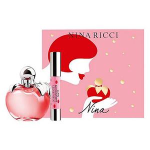 Set cadou NINA RICCI Nina: Apa de toaleta, 80ml + Ruj Jumbo Lipstick Matte, Fancy Pink
