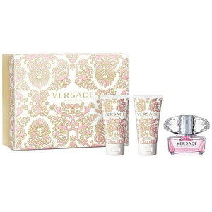 Set cadou VERSACE Bright Crystal: Apa de toaleta, 50ml + Gel de dus, 50ml + Lotiune de corp, 50ml