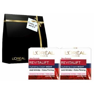 Pachet promo L'OREAL PARIS Revitalift Laser X3: Crema de noapte, 2 x 50ml