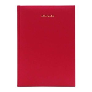 Agenda datata ARTIBEST 2020, A5, hartie offset alba, rosu