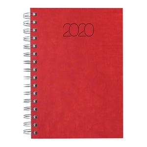 Agenda datata NUANCE 2020, A5, hartie ivory, rosu