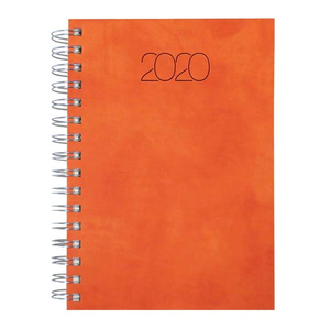 Agenda datata NUANCE 2020, A5, hartie ivory, portocaliu