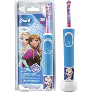 Periuta de dinti electrica pentru copii ORAL-B D100 Vitality Frozen, Curatare 2D, 2 programe, 7600 miscari/min, 1 capat, albastru