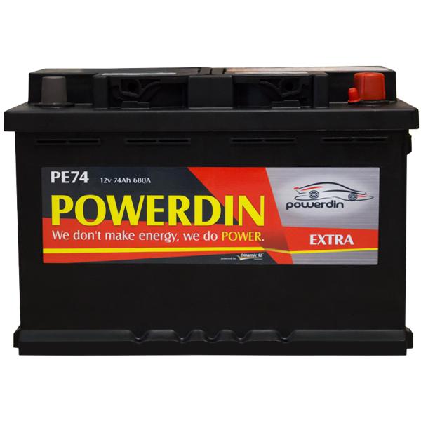 Baterie auto POWERDIN EXTRA PE74 74Ah 680A