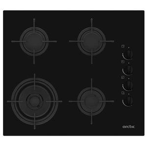 Plita incorporabila ARCTIC ARSGN64121SL, pe gaz, 4 zone de gatit, negru