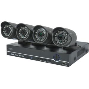 Kit supraveghere video PNI House PTZ1200, 4 camere Full HD, NVR, 4 canale, negru