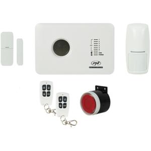 Kit sistem de alarma wireless PNI SafeHouse PG300, comunicator GSM 2G, alb