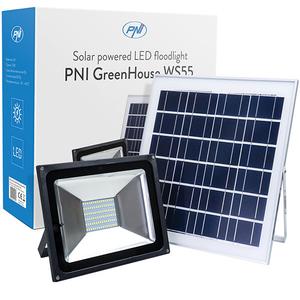 Proiector LED PNI WS55, 50W, IP65, negru