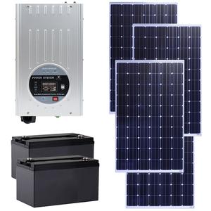 Kit Solar PNI GreenHouse SC3000 3000W, 24V MPPT, 2 acumulatori 200A, 4 panouri monocristaline 250W