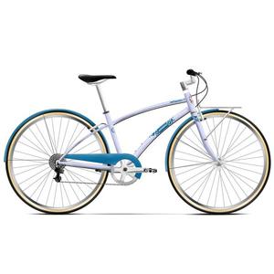 Bicicleta de oras PEGAS Popular Otel 16 7S, Roz Bujor