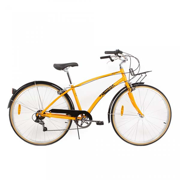 Bicicleta de oras PEGAS Popular Alu 16 7S, Portocaliu Neon