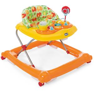 Premergator CHICCO Circus Baby Walker, 6 luni +, portocaliu