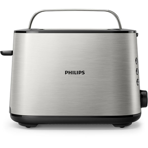 Prajitor de paine PHILIPS HD2650/90, 2 felii, 950W, argintiu-negru
