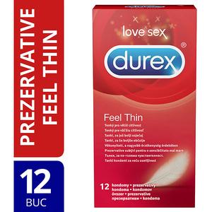 Prezervative DUREX Feel Thin, 12buc
