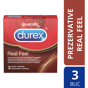 Prezervative DUREX Real Feel, 3buc