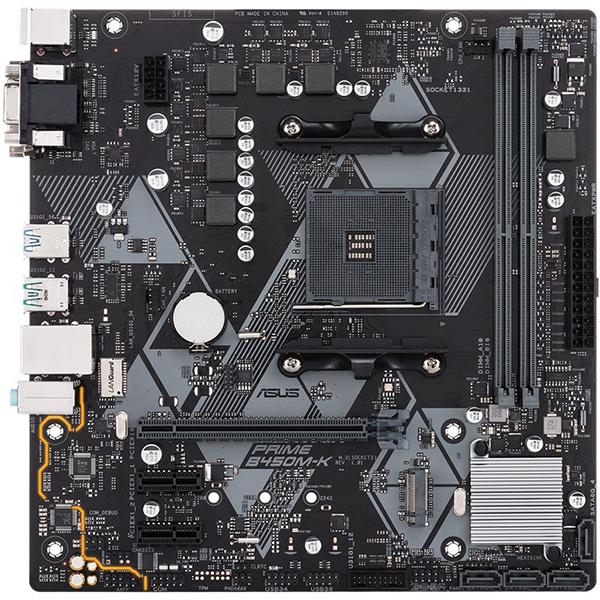 Placa de baza ASUS PRIME B450M-K, socket AM4, 2xDDR4, 4xSATA3, mATx